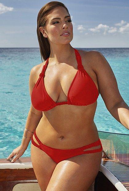 49742c46ae5 Ashley Graham x swimsuitsforall Double-Cross Siren Bikini Bikini Girls, Red  Bikini, Swimsuits