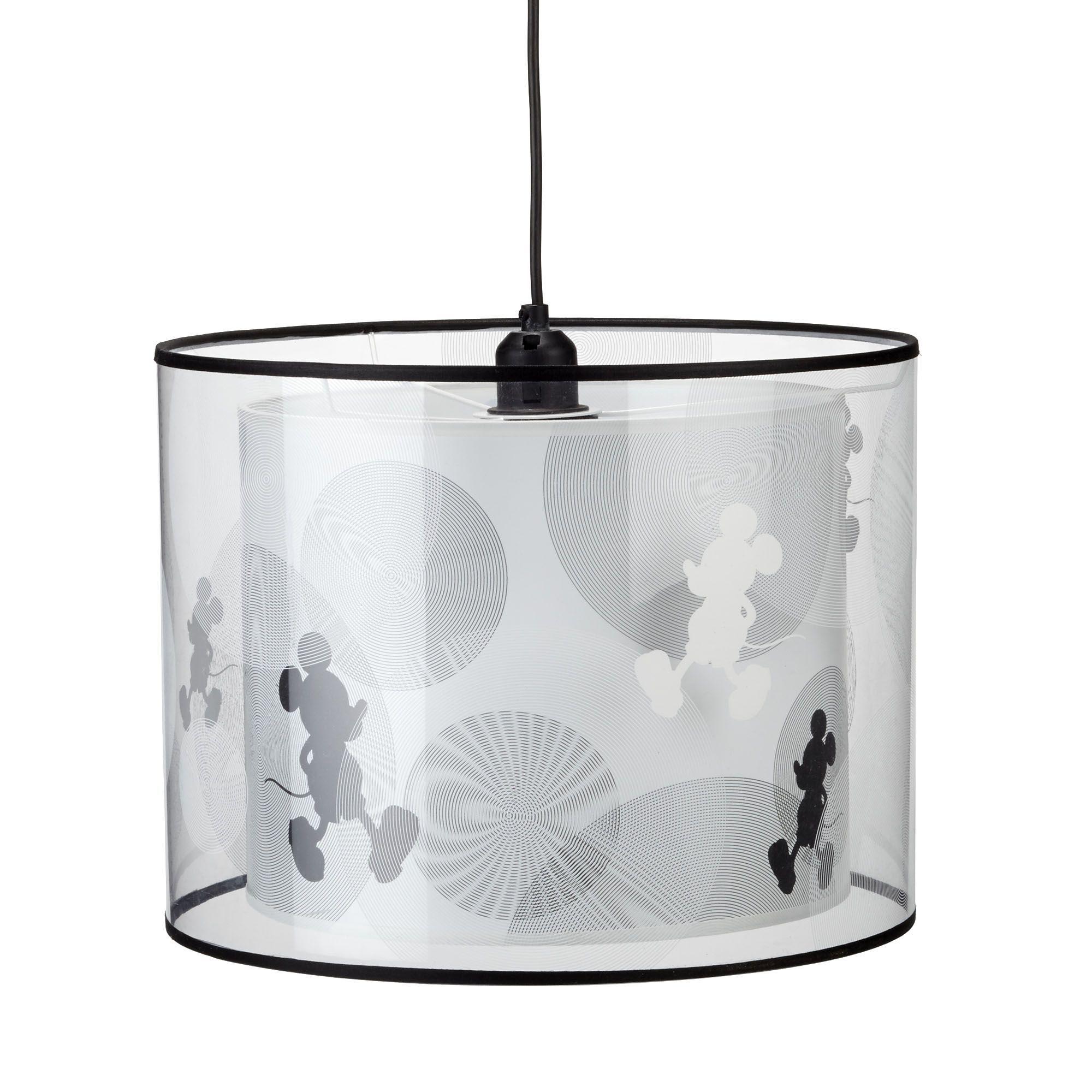 Suspension double cylindre Noir Blanc Transparent Disney Les