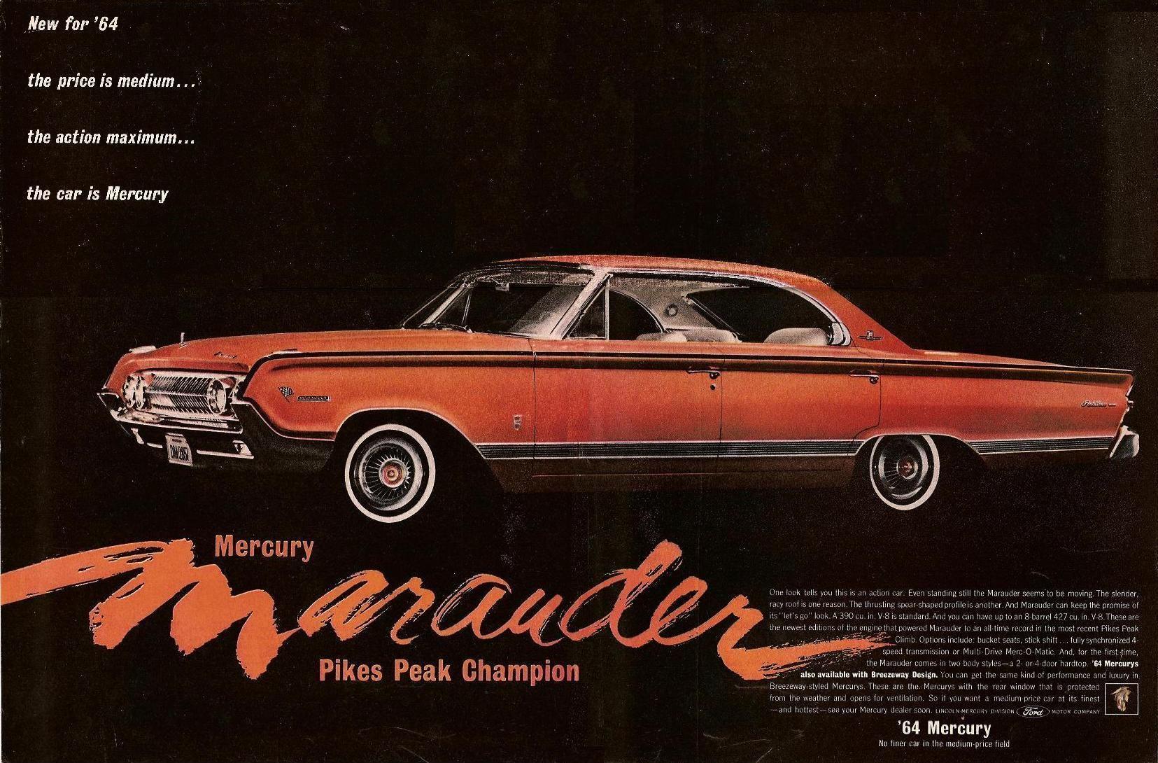 1964 Mercury Marauder Mercury Cars Mercury Marauder Marauder Vehicle