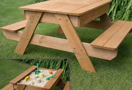 Enjoyable Sandpit Picnic Table Diy Kids Picnic Table Picnic Table Pabps2019 Chair Design Images Pabps2019Com