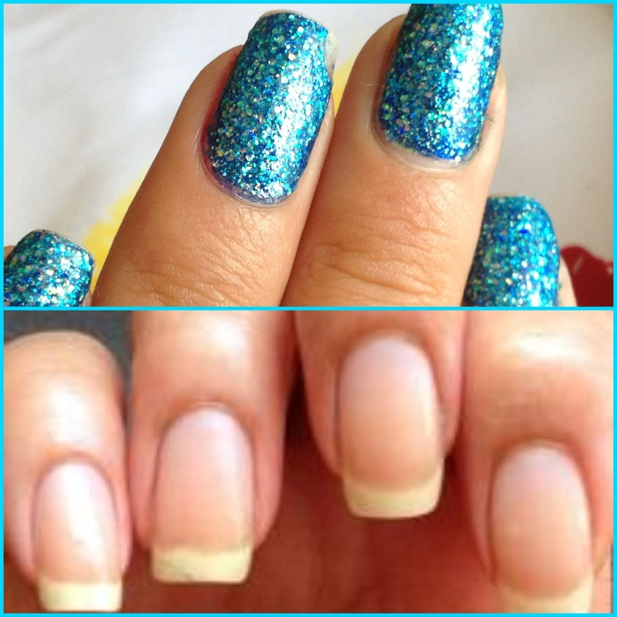 How to Easily Remove Glitter Nail Polish   Recipe   Glitter nail ...