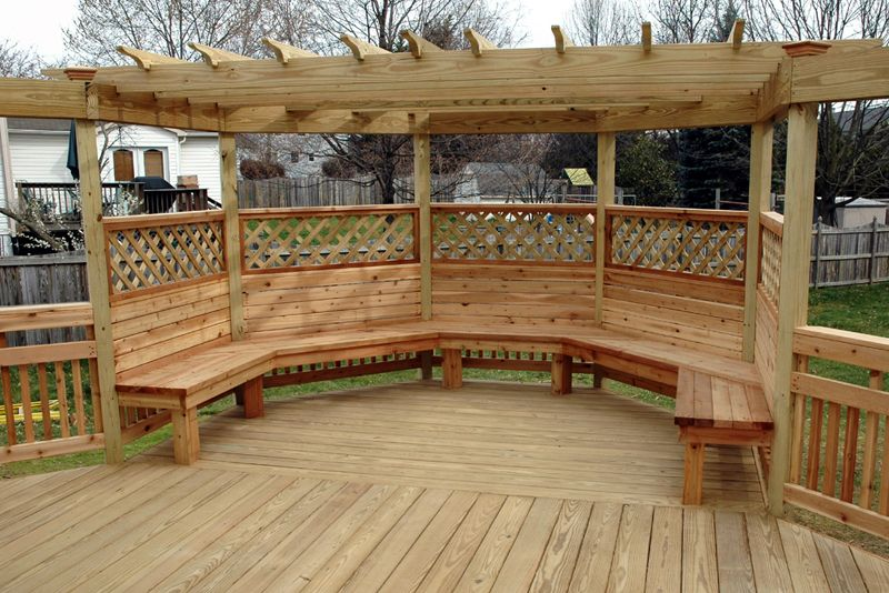 Octagon Deck Patterns This Received The Full Treatment Pergola Bench And