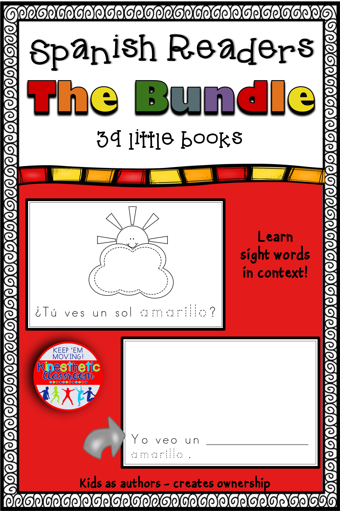 Here S A Cost Saving Bundle Of Spanish Sight Word Readers