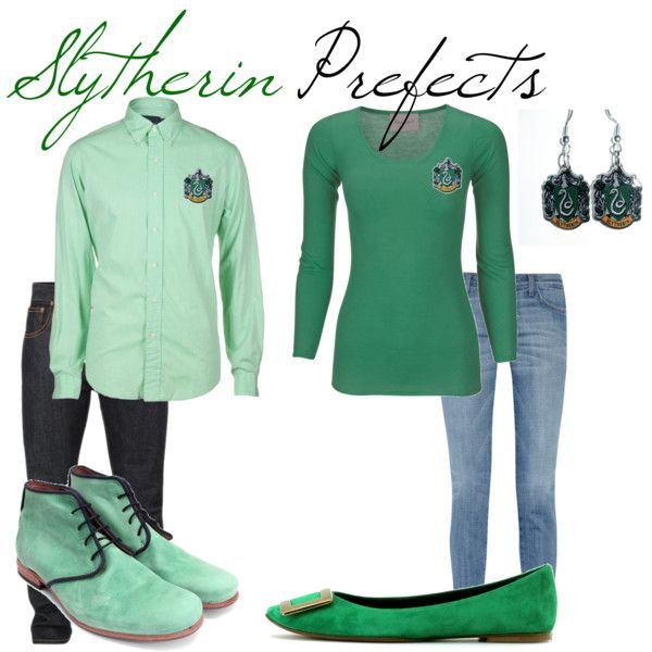Slytherin Prefects, created by nearlysamantha on Polyvore