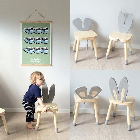 "mommo design 10 LOVELY IKEA HACKS Flisat ""bunny"" stool"