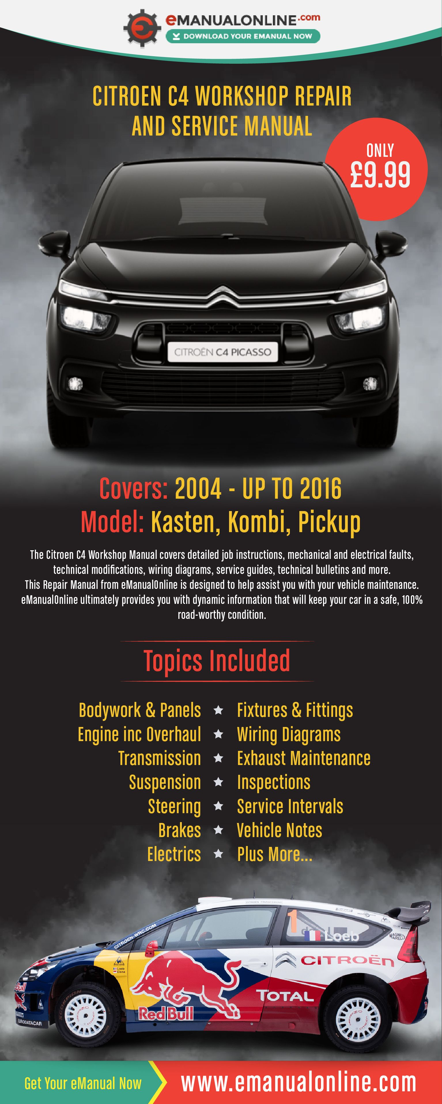 Citroen C4 Workshop Repair And Service Manual Advertisement 24 Wiring Diagrams 365 Pinterest Cars