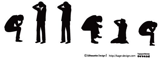 しまったぁああ シルエット 素材 ピクトグラム デザイン