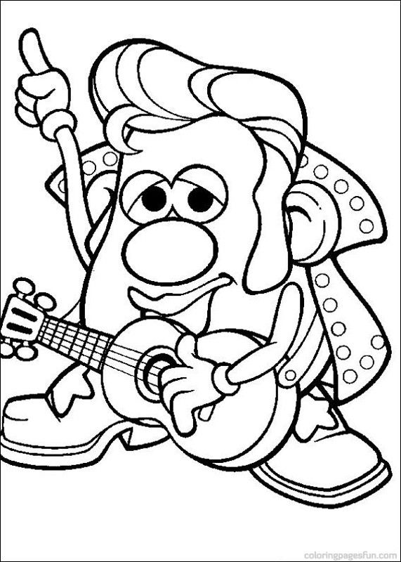 Mr Potato Head Coloring Pages 4 Festa Senhor cabea de batata