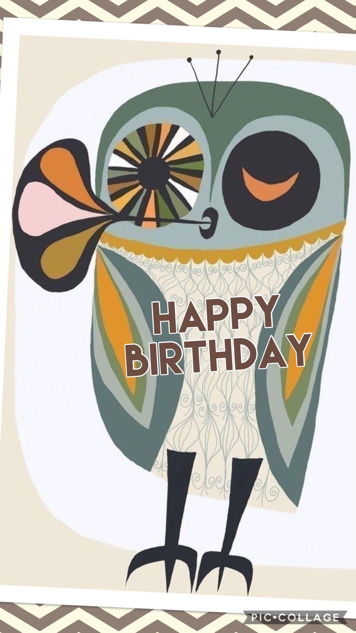 Hbd Owl Birthday Q Pinterest Happy Birthday