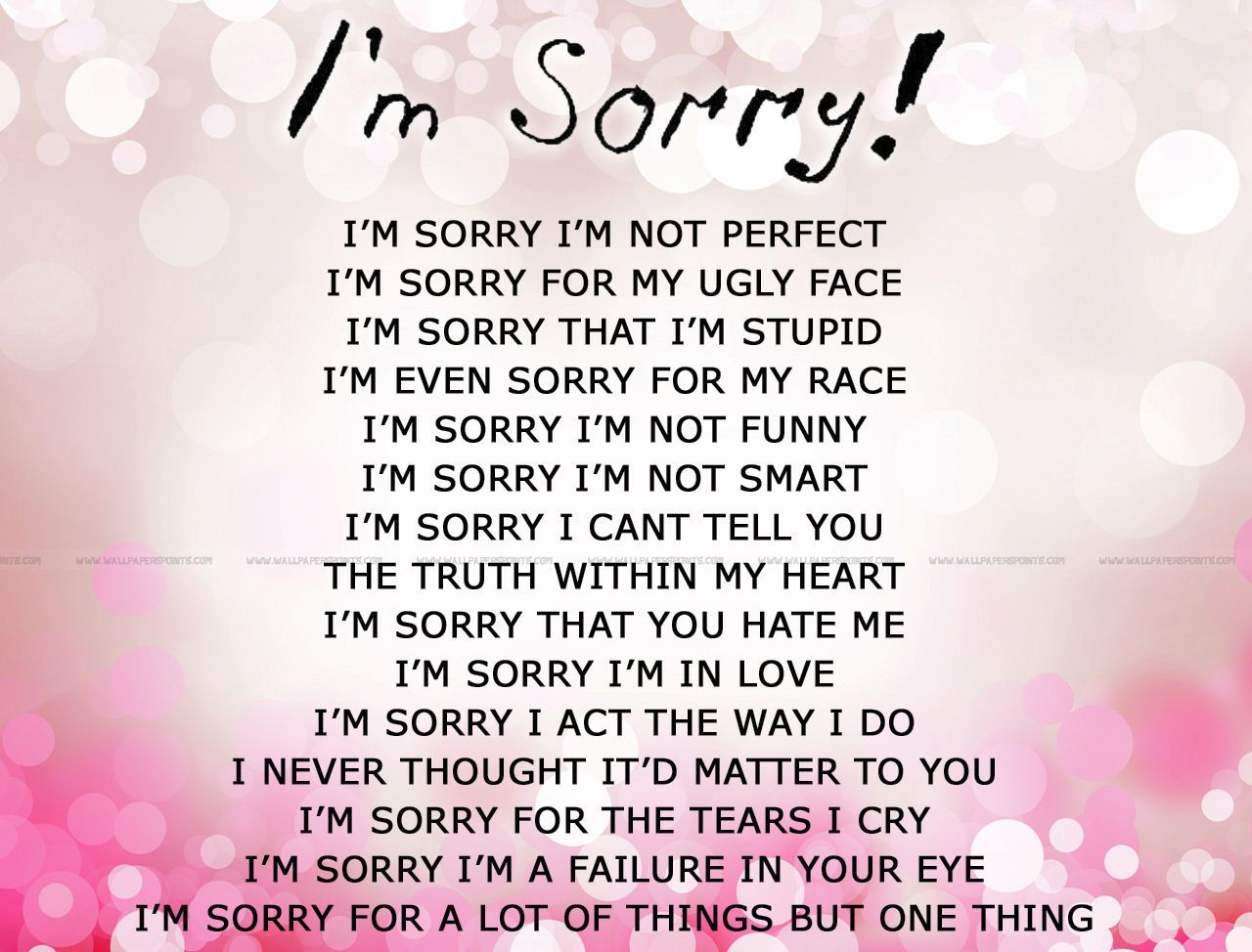 Im Sorry Pictures Photos And Images For Facebook Tumblr Pinterest And Twitter Apologizing Quotes Sorry Cards Apology Cards