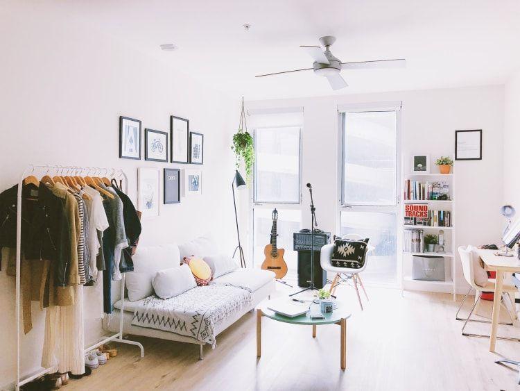 a pinterest engineer's sf studio is minimal modern and