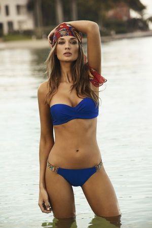 Rebel Blue Bombshell Bandeau Bikini | #Amazing #beachwear #seaside #cotedazur #womenswear #swimwear