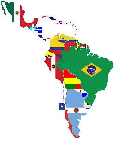 Latino America Celebrando Lo Nuestro With All The Flags Viva Via Cervantes Galan Mapa De America Banderas Del Mundo Continentes