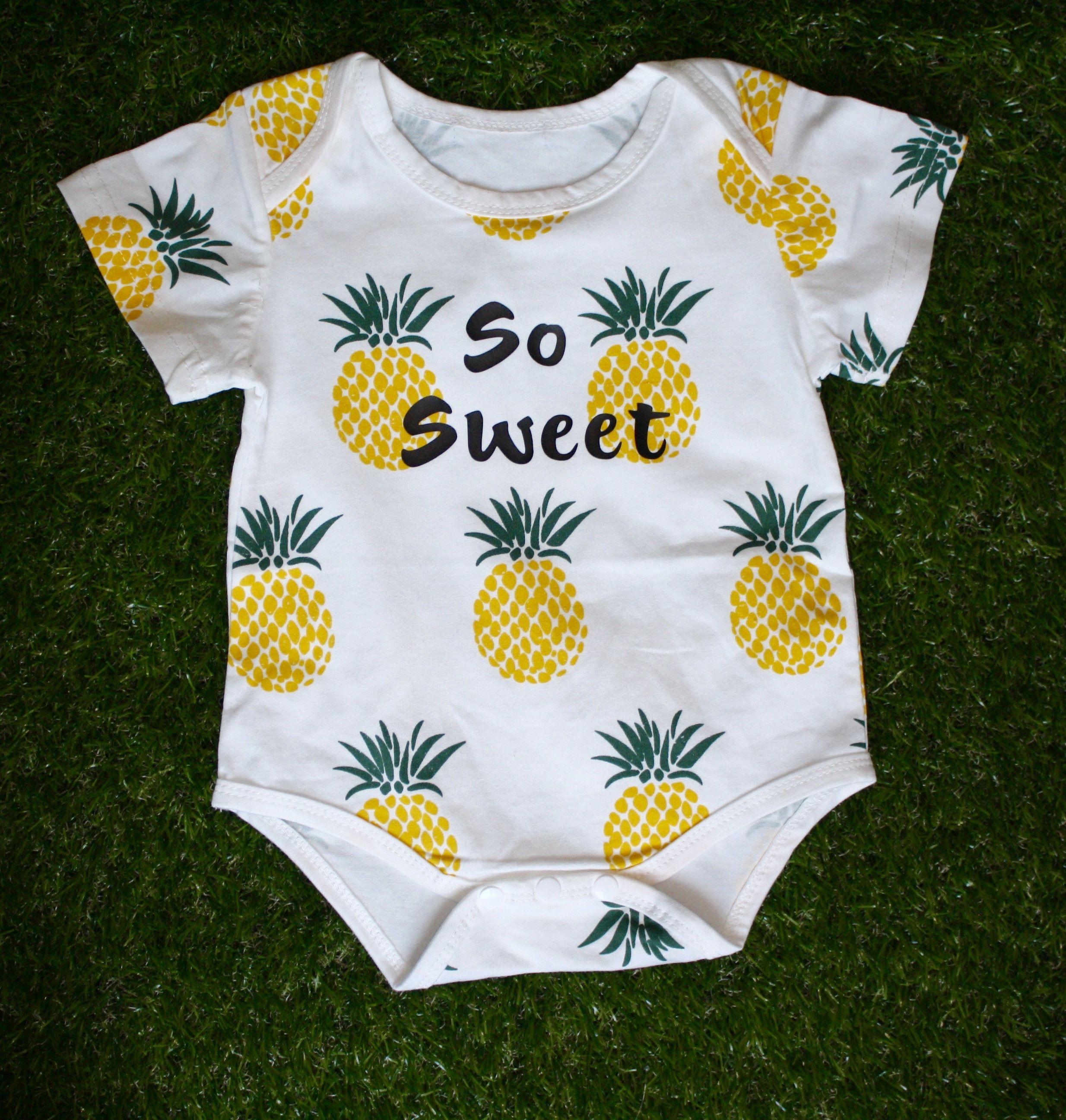 AKDJDS Upside Down Pineapple Baby Boys Girls Long Sleeve Baby Onesie Organic Babys Creeper