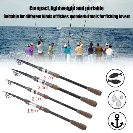 Facetosuns, Adjustable Fishing Pole Telescopic Fishing Rod