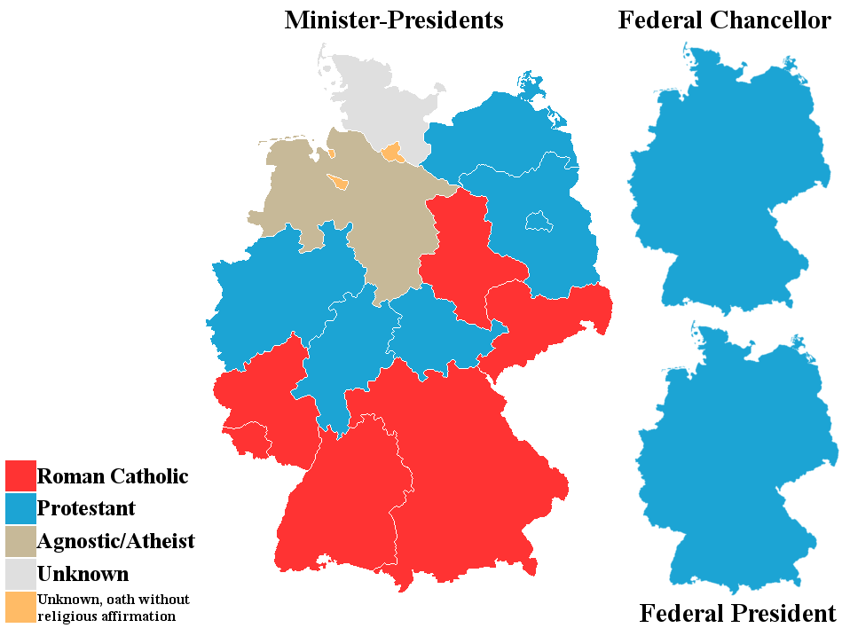 Religion Of German Minister Presidents Federal Chancellor President