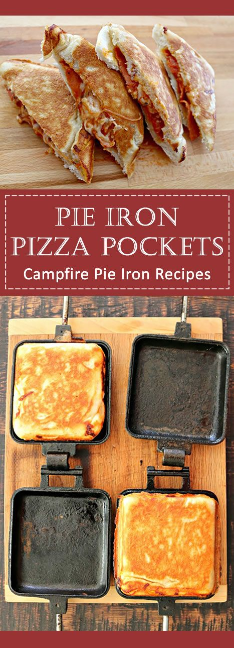 In Pie Iron Recipes Making pie iron pizza is taking your campfire pie iron cooking to the next level  Sometimes eating plain old grilled cheese just isn't enough to satisfy after a long day outdoors   is part of Easy camping meals -
