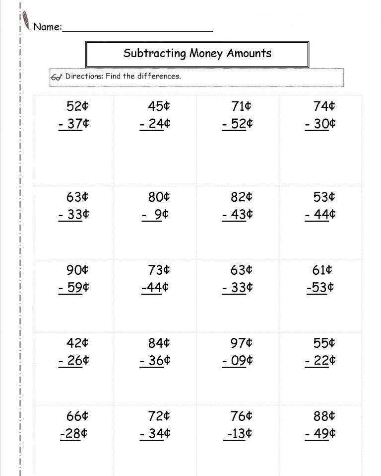 2nd Grade Money Worksheets Best Coloring Pages For Kids In 2020 Money Worksheets Money Math Counting Money Worksheets