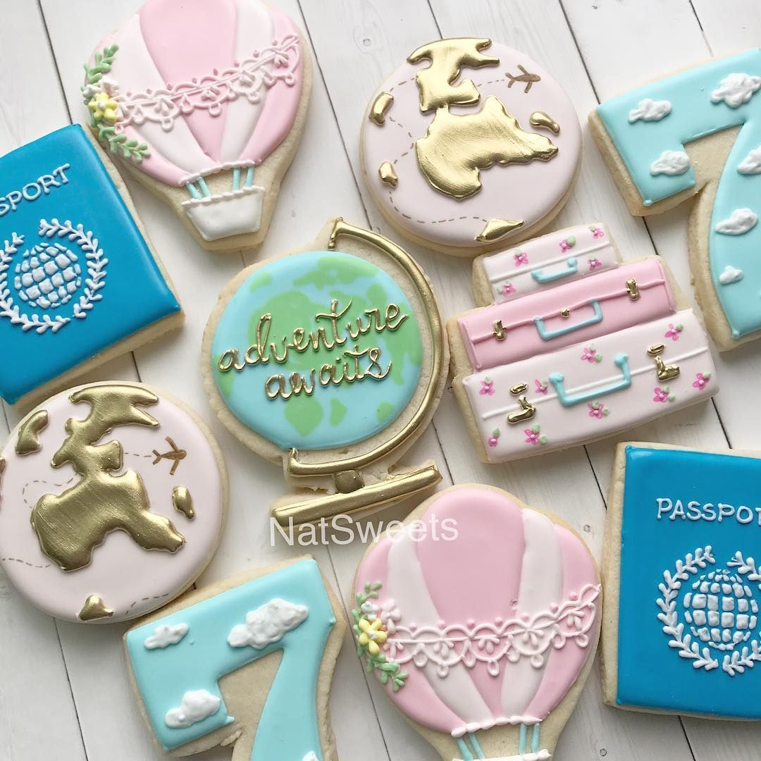 Image Result For Adventure Awaits Travel Sugar Cookie With Images