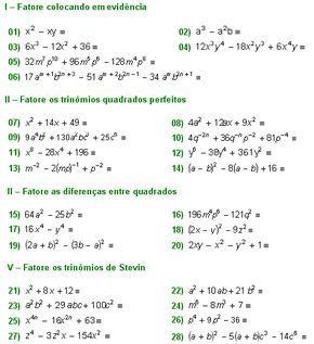 Matematica Muito Facil Algebra Fatoracao Algebricas Parte Ii