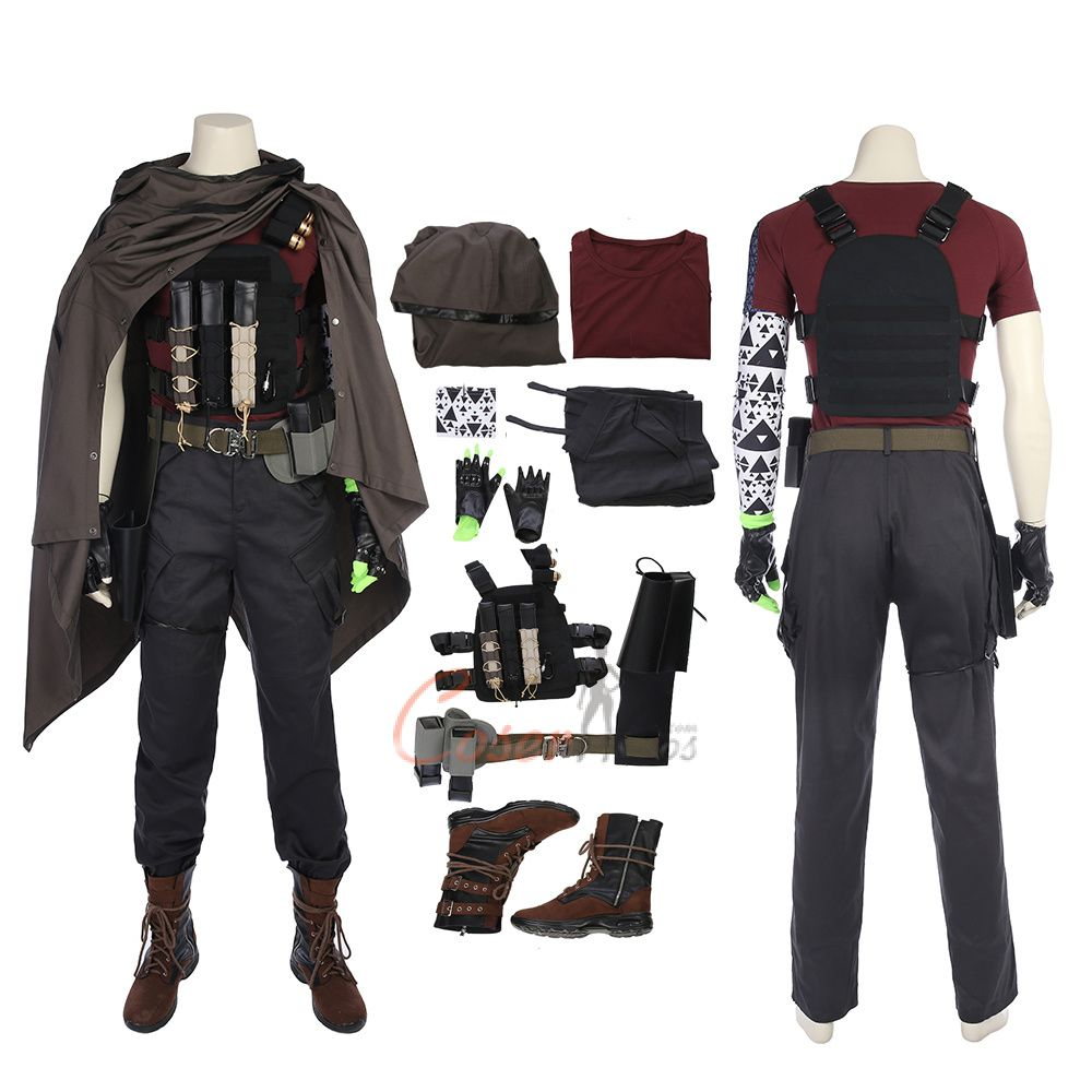 Halloween 2020 Cable Cable Costume Deadpool 2 Cosplay Nathan Summers Cloak Outfit Men's