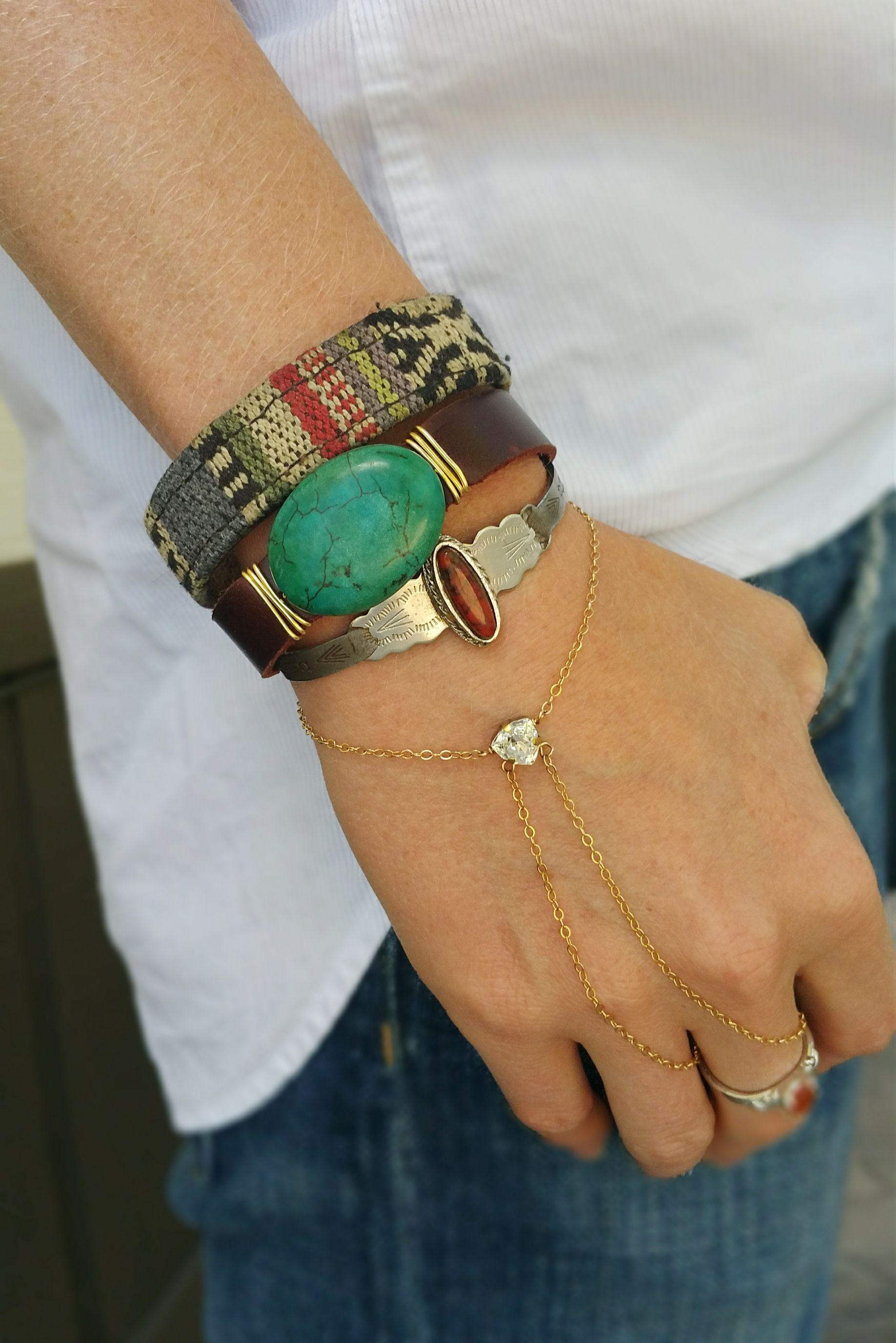 Boho bracelets for days the meg wedding jewelry looped handlet