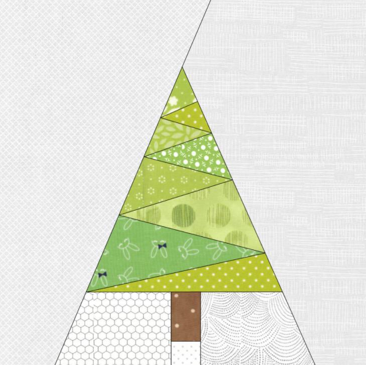 Free Quilt Pattern Geometric Christmas Tree Paper Pieced Pdf Pattern I Sew Free Tree Quilt Pattern Christmas Tree Quilt Paper Pieced Quilt Patterns