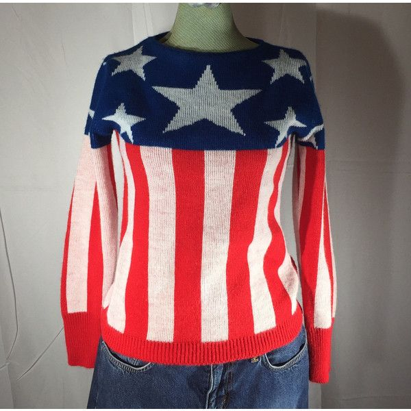 Red White Blue Sweater, Patriotic, Stars and Stripes, Pandora ...