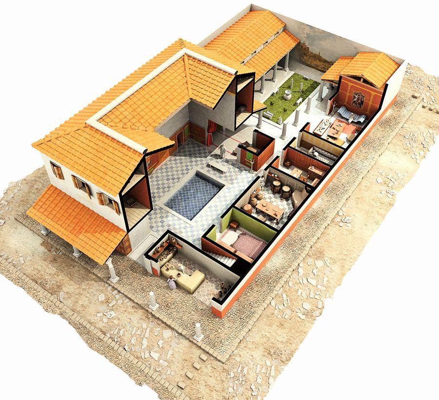 Image Result For Roman Villa Floor Plan Roman House Ancient Roman Houses Roman Villa