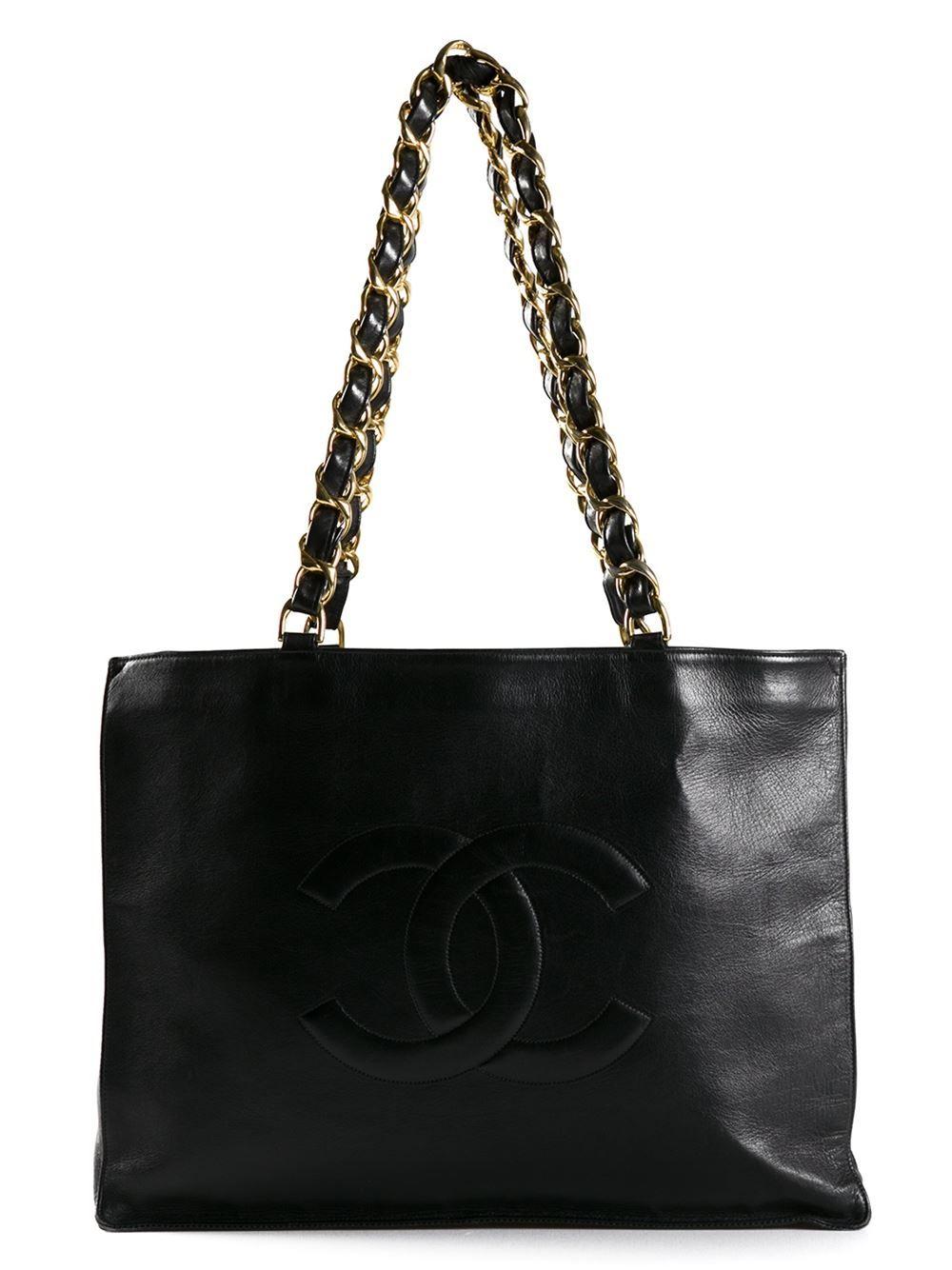 4fbec90d42f Chanel Vintage Vintage Shopper Tote - Bella Bag - Farfetch.com