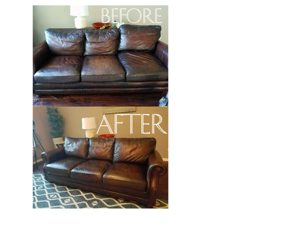 Leather Couch Restoration In About An Hour Not Including Dry