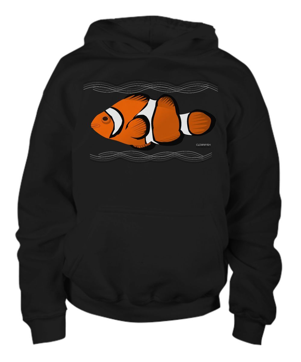 Clownfish Reef Fish Identification Youth Hoodie