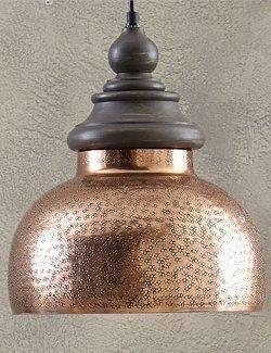 Antique Copper Finish Farrier S Pendant Light Copper Pendant
