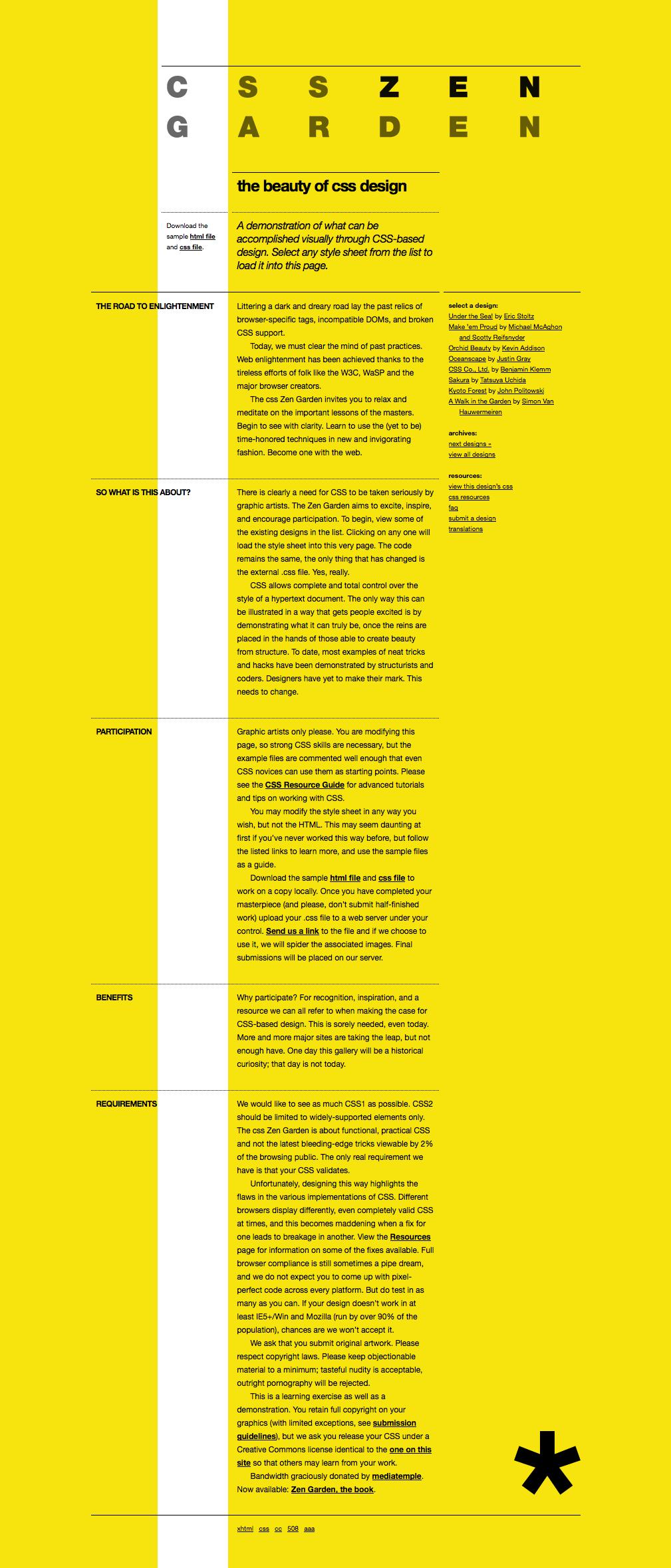 CSS Zen Garden: To Helvetica With It! #grid #single | Websites ... Zen Garden Line Design Html on zen gardens landscaping, okinawa design, zen flowers, zen symbols, zen space, zen gardens in japan, patio design, pool design, zen small backyard ideas, zen gardening, mail kiosk design, landscape design, pergola design, zen art, zen doodle designs instruction, zen paint colors, loft design,