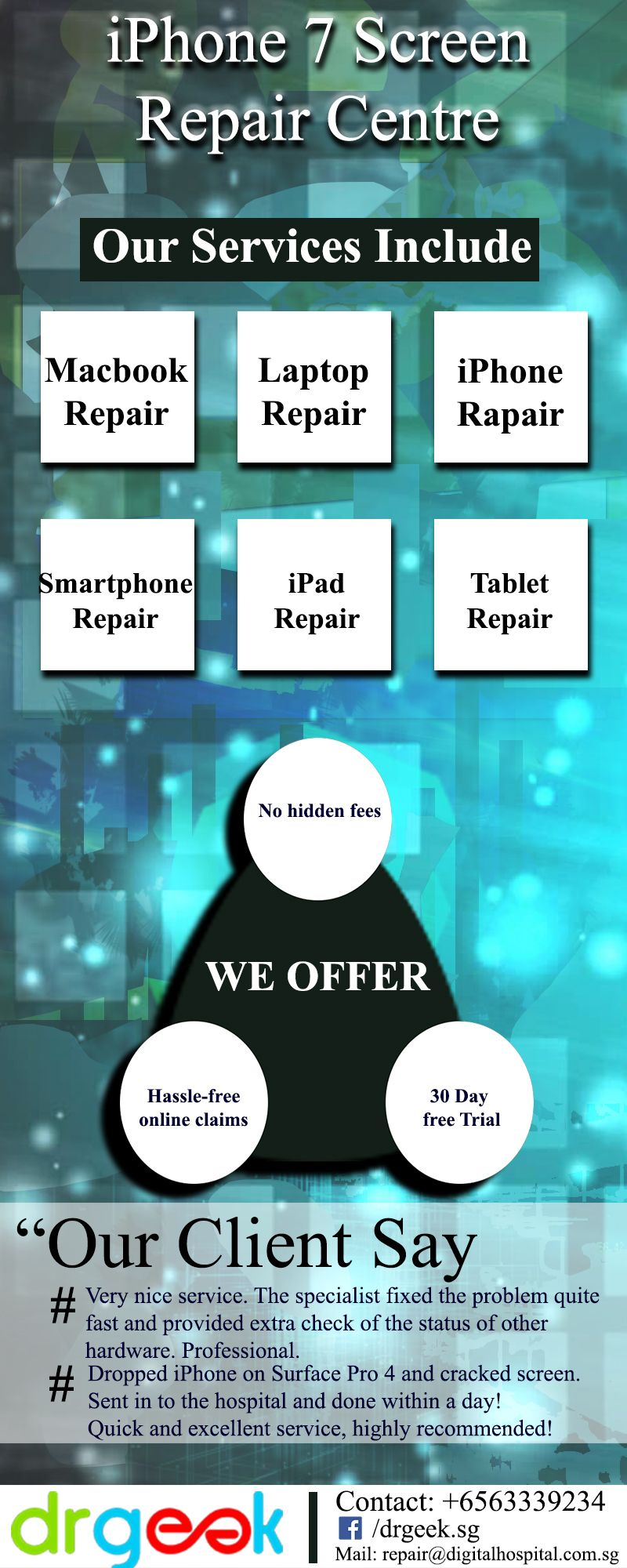If you are in need of iphone 7 screen repair, contact us