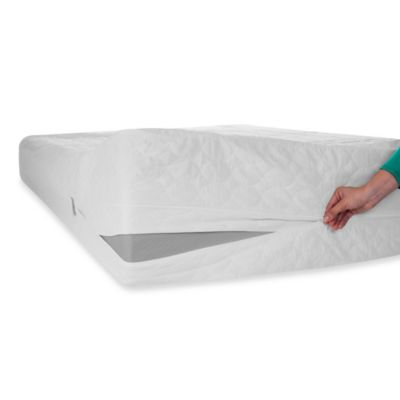 Remedy Bed Bug and Dust Mite Mattress Protector in White - BedBathandBeyond.com $49,99 Online Only but better reviews