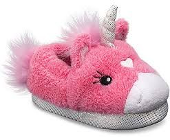 Stride Rite Toddler Girl/'s Plush Pink Unicorn Light Up Slippers Shoes