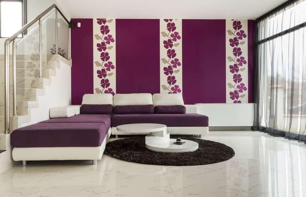 55 Purple Interior Design Ideas Purple Room Photos Living Room Wall Designs Family Room Wall Decor Purple Interior Design
