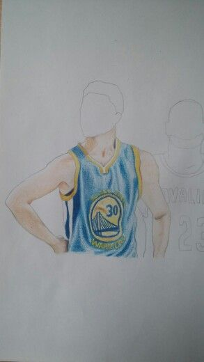 Here Istarted drawing Stephen Curry (my favourite player) and LeBron James
