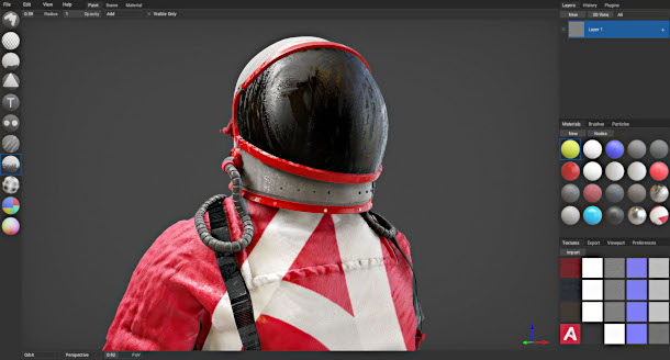 Check out opensource 3D painting tool ArmorPaint CG