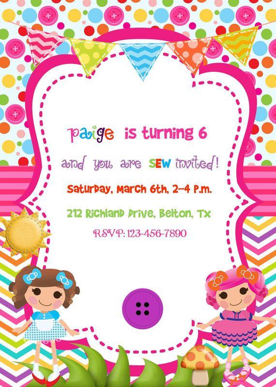 Lalaloopsy Partido Invitación Cumpleaños Por