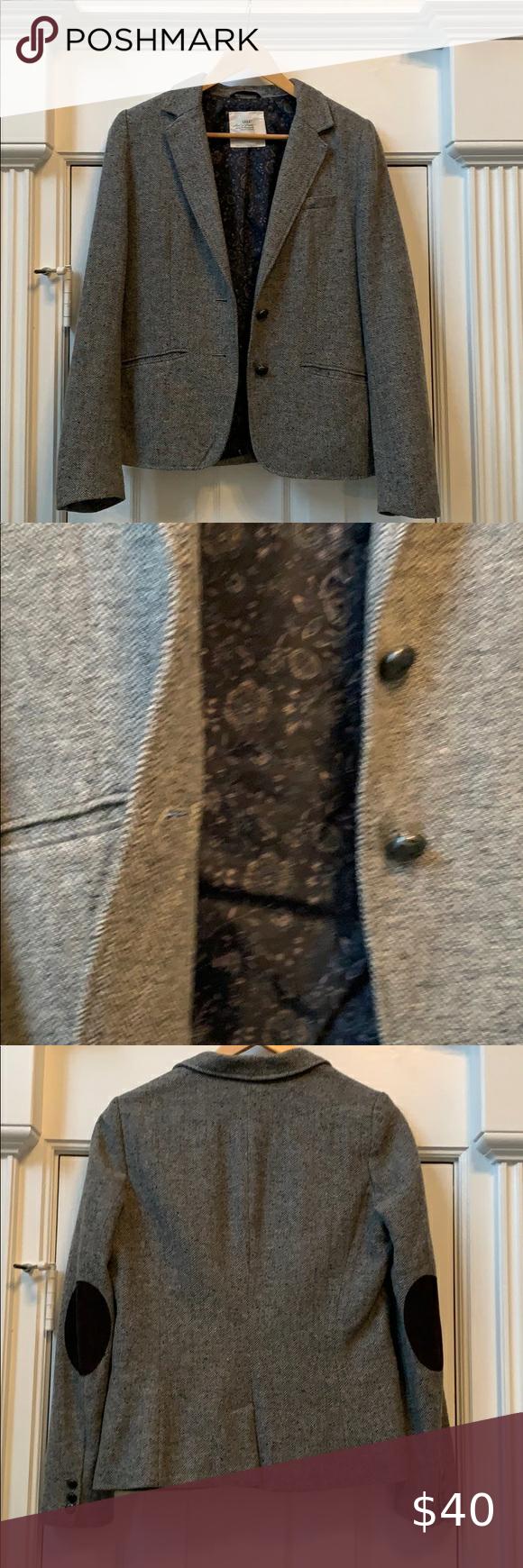 Tweed jacket with elbow patches in Tweed jacket