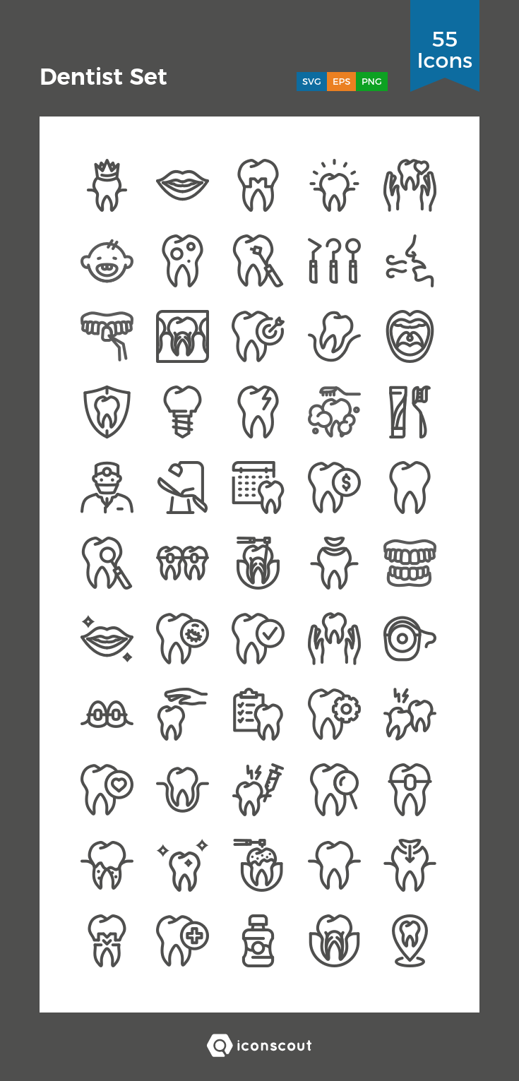 Download Dentist Set Icon pack Available in SVG, PNG