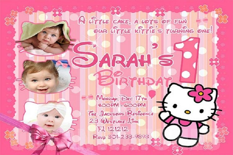 Hello Kitty Birthday Invitations Invitation Ideas