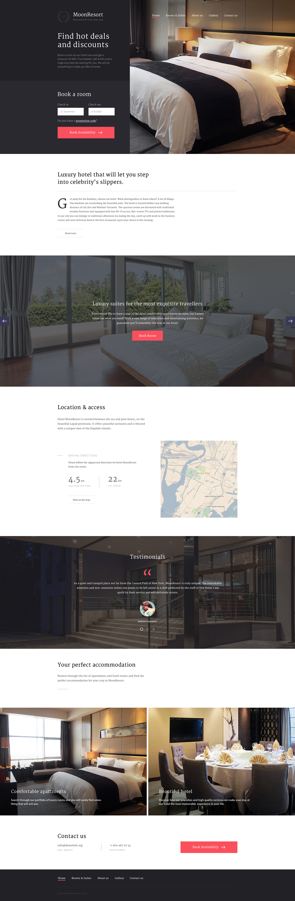 MoonResort Website Template - $69 on Behance | diseño | Pinterest ...