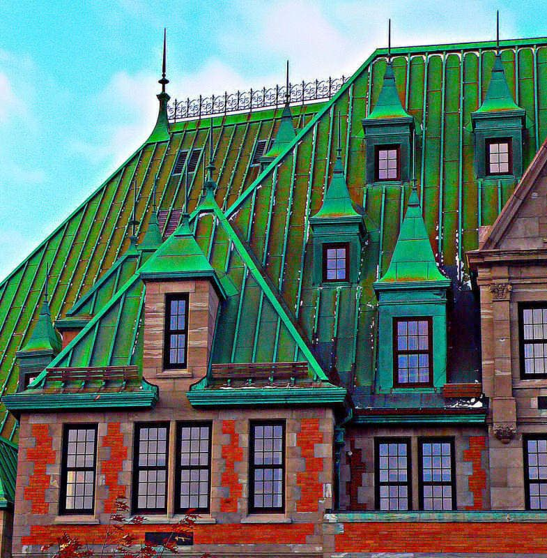 Best Chateau Frontenac Green Roof Quebec Canada Quebec Old 400 x 300