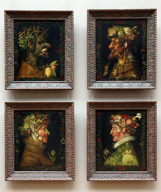 Giuseppe Arcimboldo, Le quattro stagioni per Massimiliano II, 1573, Paris, Musée du Louvre