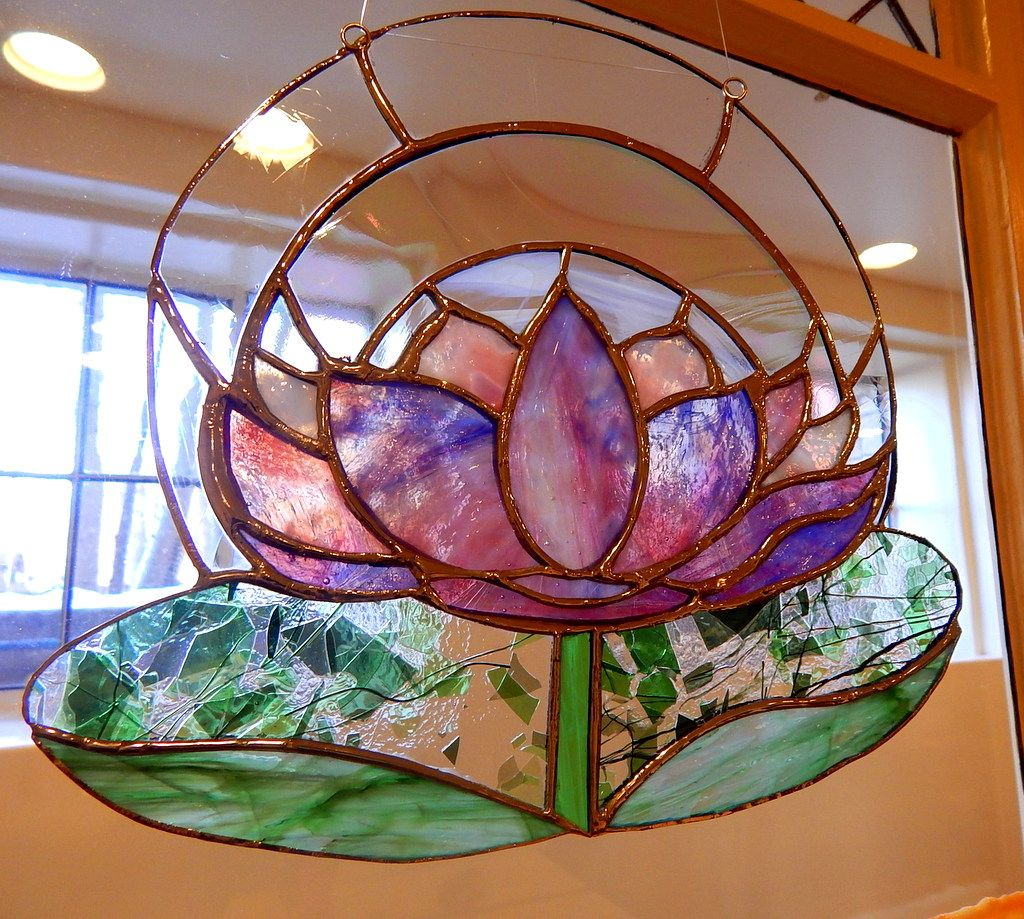 Lotus flower for sale at tristans stained glass tristans stained lotus flower for sale at tristans stained glass izmirmasajfo