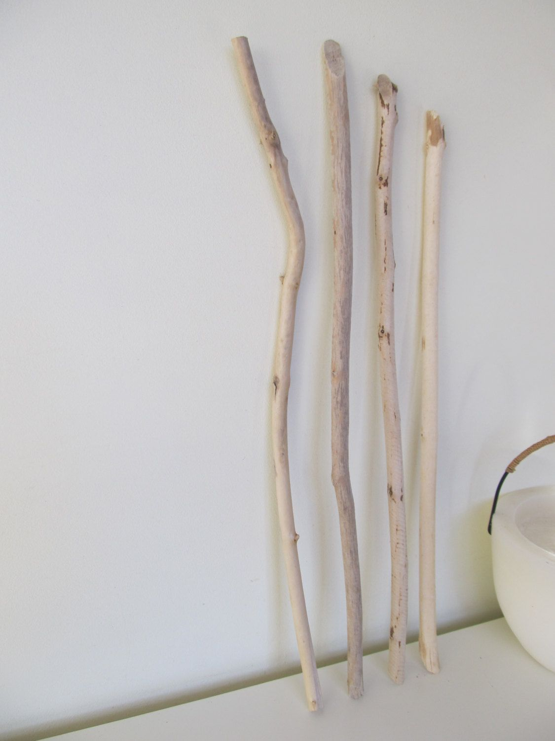 3 Skinny Driftwood Pieces