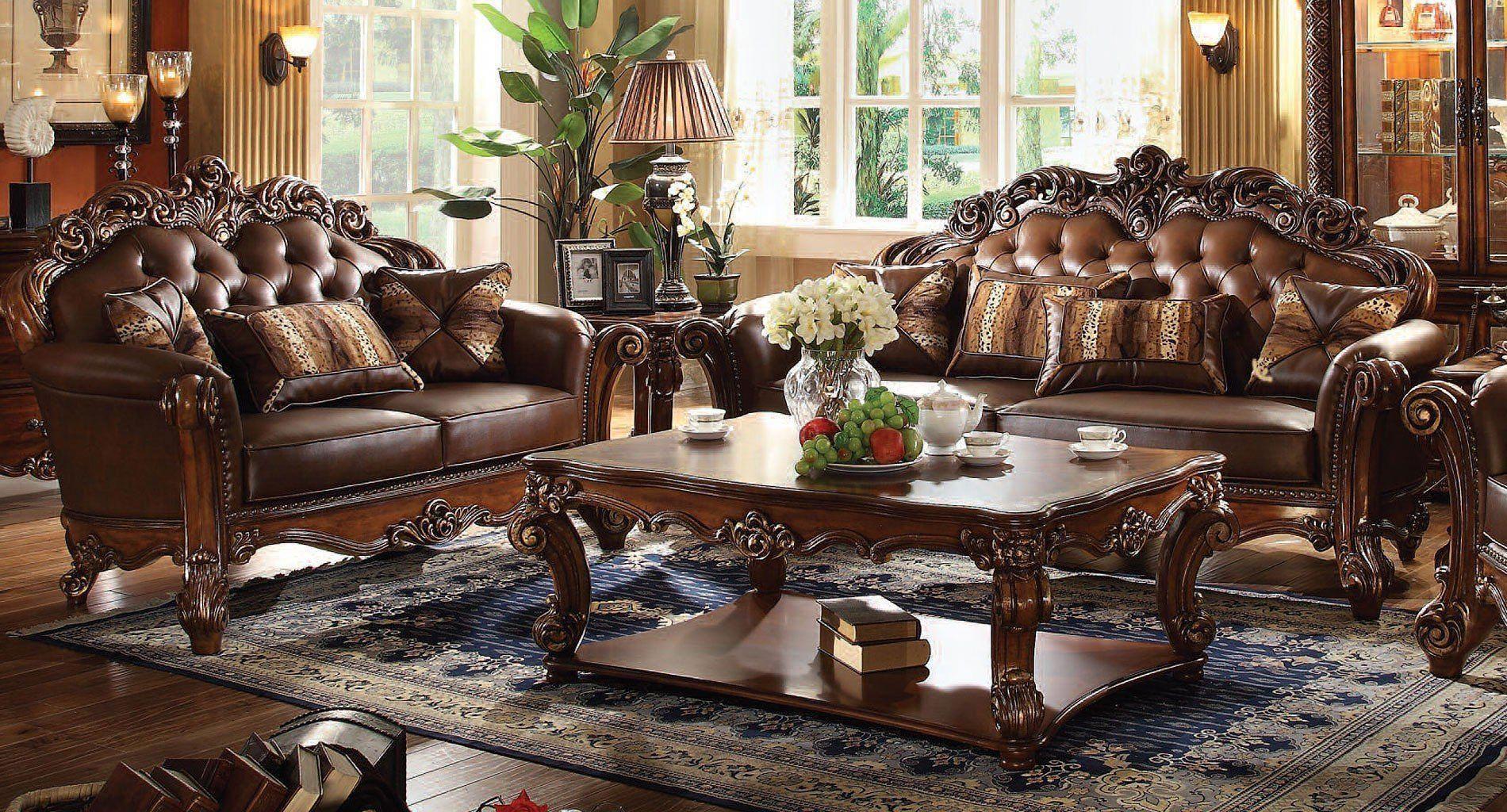 Vendome Living Room Set w Large Sofa Livingroomideas Living room